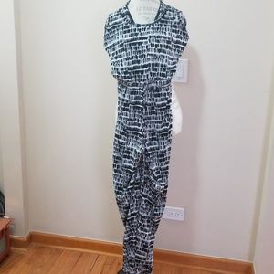 Calvin Klein Black and white jumpsuit, size L